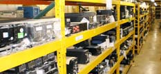 aircraft avionics on shelves